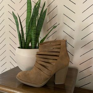 Soda Brown Booties Size 10